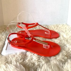 Calvin Klein Thong Jelly Sandals Red Size 7
